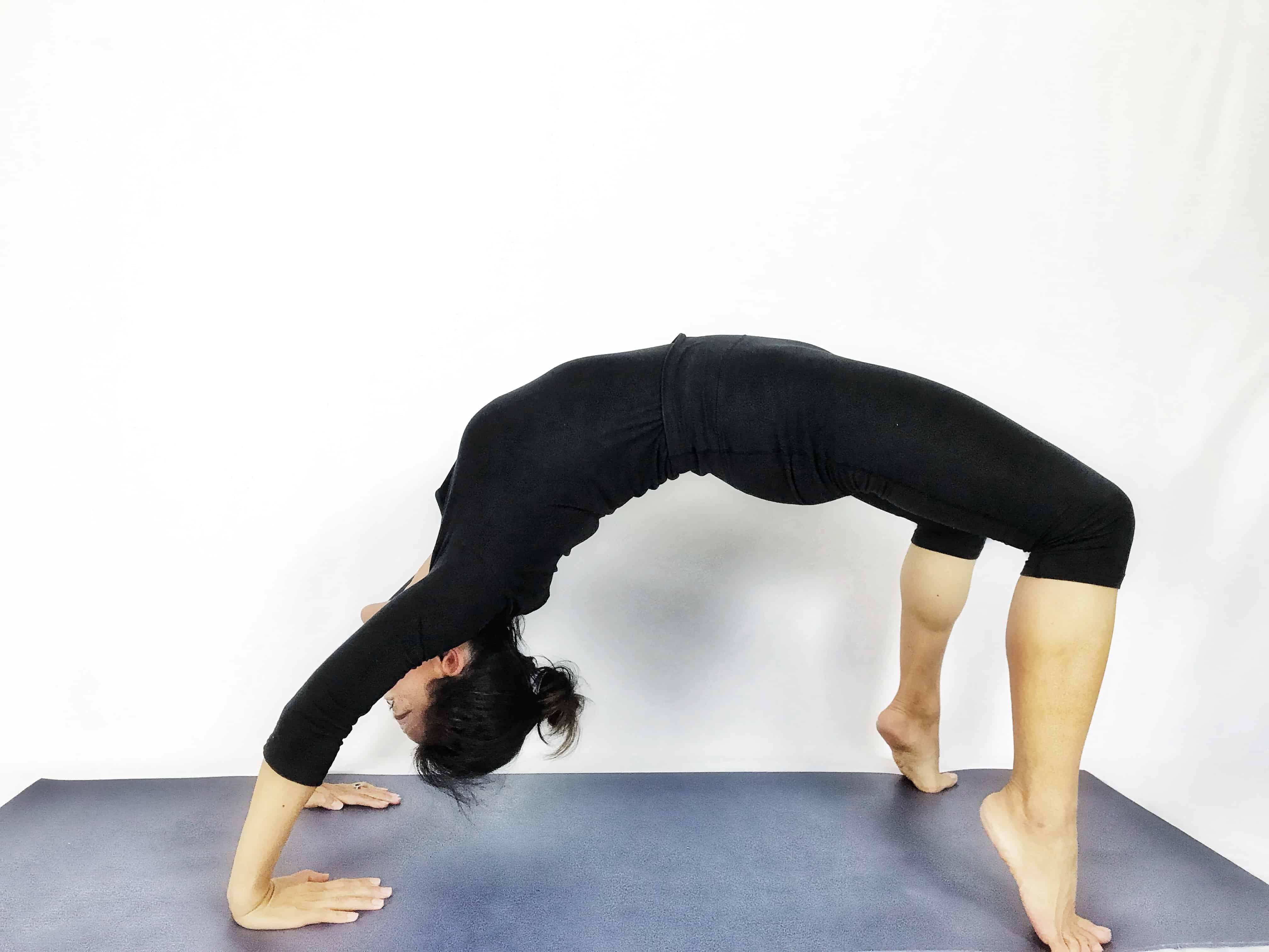 Wheel inversion yoga pose