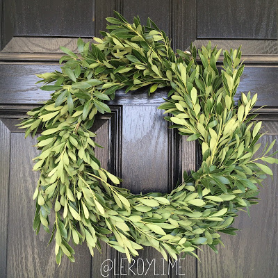$1 Greenery Wreath