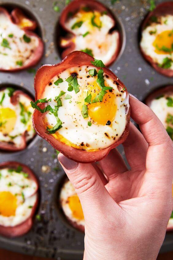 13. Ham & Cheese Egg Cups