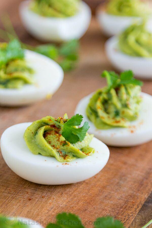 14. Guacamole Stuffed Eggs