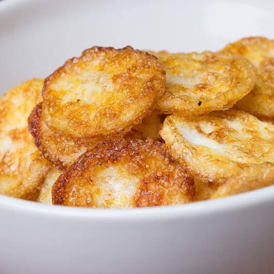 3. Parmesan Egg Chips