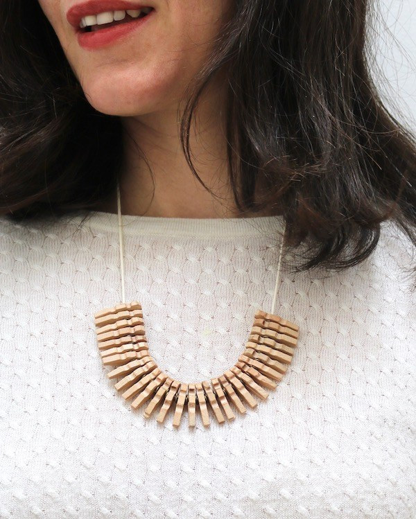 Clothespin Necklace