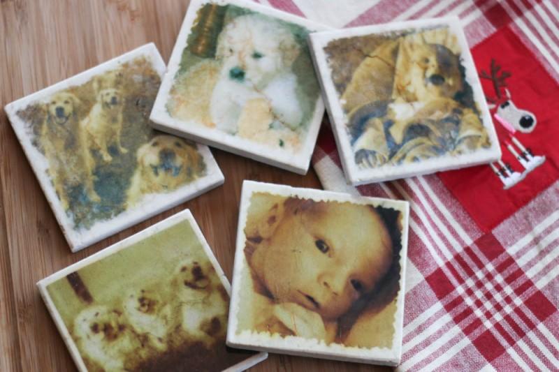 Marble Photo Coasters