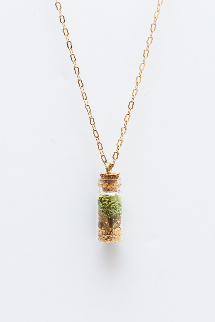Mini Faux Terrarium Necklace