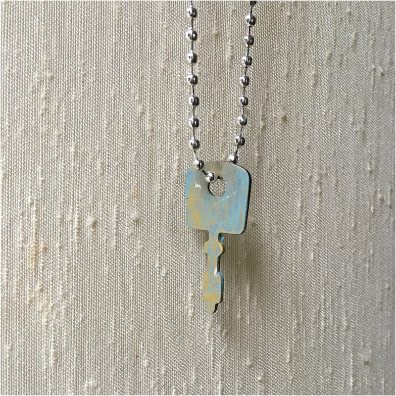 Painted Key Necklace