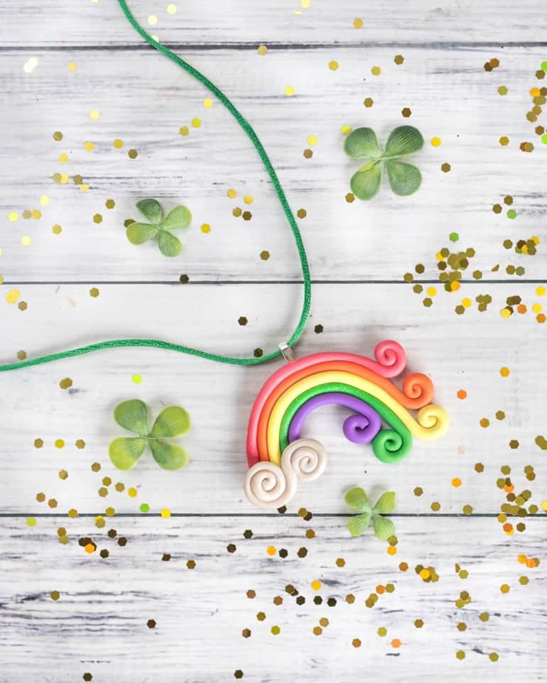 Polymer Clay Rainbow Necklace